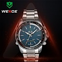 WEIDE® Men Round Stainless Steel Band Japan Quartz Movt With Auto Date Multiple Time Zone Wrist Watches(Assorted Colors)