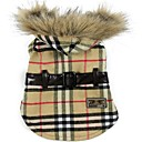 Dog Coats/Hoodies-S/M/L/XL-Winter-Red/Yellow-Warm/Plaid-Cotton