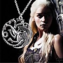 Retro Men's Game of Thrones Targaryen Dragon Necklace