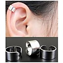 European Round Shape Alloy Ear Cuffs(Gold,Silver,Black) (1Pc)