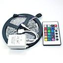 5M 150X5050 SMD RGB LED Strip Light with 24Key Remote Controller (DC12V)