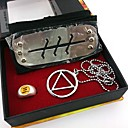 Buy Jewelry / Headpiece Inspired Naruto Cosplay Anime Accessories Headband Necklace Ring Silver Alloy Male