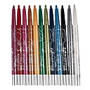 12Pcs Vivid Color Glitter Liner Eyeshadow Pen and Eyeliner