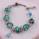 Pandoran blue heart Diamand   Rhinestone  Pandent Silver Alloy Charm Bracelet 2015 new item new arrivale (1 pc)