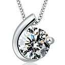 Stone Moon Bay 925 Pure Silver Pendant Necklace