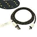 3M 10ft Fabric Braided Woven Micro USB Charging Cable Data Sync Cord for Samsung HTC Sony Phones (Black)