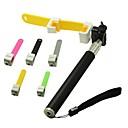 selfile rostfritt stål enbent med silikon hållare för iphone / samsung och andra (blandade färger)