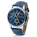 Heren Dress horloge Kwarts PU Band Polshorloge Zwart / Wit / Blauw