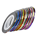 Buy 3Mixs Color Striping Tape Line Nail Stripe Art Decoration Sticker