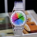 color mágico reloj de plástico transparente reloj circular de las mujeres de la alta calidad