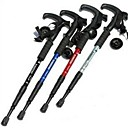 Trekking Pole Telescopic Stick Four Bend Straight Shank Hiking Poles (Random Color)