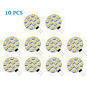 10 pcs G4 1.5 W 12 SMD 5050 70 LM Warm White / Cool White Spot Lights AC 12 V