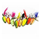 Buy 1Hard Bait / Metal Fishing Lures Hard Green Orange White Yellow Red 7 g/1/4 oz. Ounce mm/1-9/16 inch