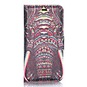 Buy Tribal Elephant Pattern Fashion Silk Wallet Style Magnetic Flip Stand PC+PU Leather Case iPhone 6
