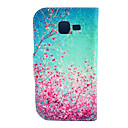 Cherry Blossoms Pattern PU Leather with Case and Card Slot for Galaxy Trend Lite S7390/S7392