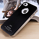 Joyland Frosted Solid Color Metal Back Cover voor iPhone 4/4S (assorti kleur)