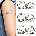 Elephants Lovers Lovely Tattoo Stickers Temporary Tattoos(1 Pc)