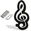 Cartoon Musical Note Model 8GB  USB 2.0 Flash Pen Drive Memory Stick Pendrive