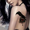 5Pcs  3D  Waterproof Black Eagle Pattern Tattoo Stickers