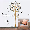 Birdcage And Tree PVC Wall Sticker