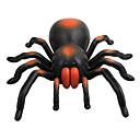 超力大きな黒いオレンジ色のタランチュラリモートコントロールのおもちゃ
