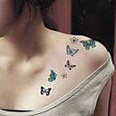 Tatuajes Adhesivos - Modelo - Series de Animal/Otros - Mujer/Girl/Hombre/Adulto/Boy/Juventud - Negro/Azul - Papel - 5 - 10.5cm*6cm - 图案类型
