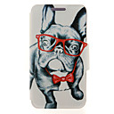 Kinston® Glass Dog Animal Pattern PU Leather Full Body Cover with Stand for Samsung Galaxy A3