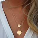 Buy Women's Statement Necklaces Alloy Fashion Simple Style Golden Jewelry Wedding Party Daily Casual 1pc