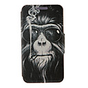 Kinston® Smoking Monkey Pattern Full Body PU Cover with Stand for Huawei G510/P7/P8/P8 Lite and Huawei Honor 6/6X/6 Plus