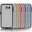 TPU Bumper Frame Case with Metal Buttons for Samsung Galaxy S6 (Assorted Colors)