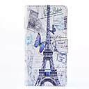 Hat-Prince Tower and Butterfly Pattern Protective Case with Card Slots and Stand for Samsung Galaxy A5