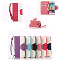 Leather Wallet Case Flip Leather Stand Cover with Card Holder for Samsung Galaxy S6 (Assorted Colors)