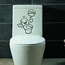 Buy Cartoon Wall Stickers Plane Toilet StickersPaper Vinyl Material Re-Positionable Home Decoration Decal