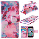Buy Red Sky Pattern PU Leather Full Body Case Stand Card Slot iPhone 5C