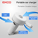 Special  Portable mini Micro USB Retractable Cable Car Charger for iPhone /iPad /iPod (5V 2.1A)