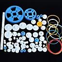 80 tipos de engrenagem do motor de engrenagem da caixa de velocidades pacote de acessórios kit robô de plástico