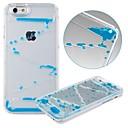 karzea ™ kreative dual layer gennemsigtig plast 3d flydende timeglas hårdt tilfældet for iPhone 6 (assorterede farver)