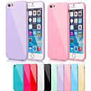BIG D Silica Gel Soft Back Cover for iPhone 6/6S(Assorted Color)