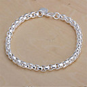 Sterling Silver Bracelet Chain & Link Bracelets Wedding/Party/Daily/Casual 1pc