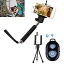 Selfie 3in1 monopie extensible de mano cámara con trípode teléfono móvil de pie y bluetooth disparador remoto para el iphone