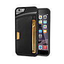 Protective Ultra-Slim TPU Leather Back Case for IPHONE 6/6S- (Black)