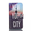 Buy York City Pattern PU Leather Painted Phone Case iPhone 4/4S