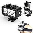 sualtı su geçirmez dalış spot ışık gopro kahraman 4 3+ 3 kamera mount led