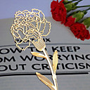 Carnation Design Golden Metal Bookmark