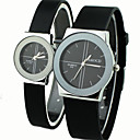 Buy Couple's Causal Style Round Dial Black Rubber Band Quartz Wrist Watch Cool Watches Unique Fashion