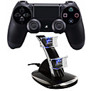 [ギフト可能パッケージ] PS4用充電ステーションを備えたデュアルショックワイヤレスBluetoothゲームコントローラー