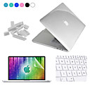 ENKAY 4 in 1 Crystal Protective Case + Screen Protector + Keyboard Film + Anti-dust Plugs for MacBook Pro Retina 15.4