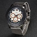 Herren Modeuhr Japanischer Quartz Edelstahl Band Armbanduhr Silber