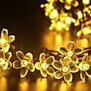 christmas light flower shape 0.1W 50LED solar light warm white/cool white/mix color