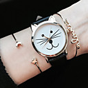 Kitty Watch Women Watches Cat Watch Wrist Watch Leather Watch Vintage Watch Jewelry Accessories